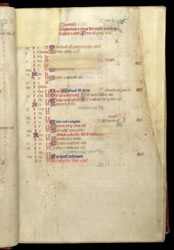 Calendar for September, in a Missal